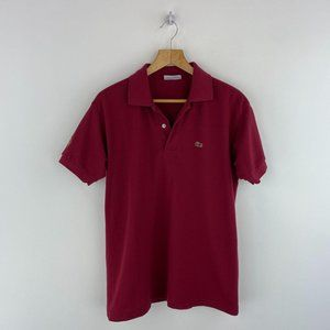 LACOSTE Dark Red Polo Shirt